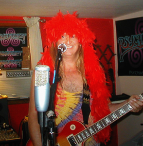 Brian rocks the red boa!